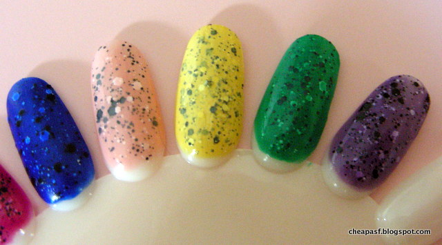 DIY cheap dupes for speckled nail polish
