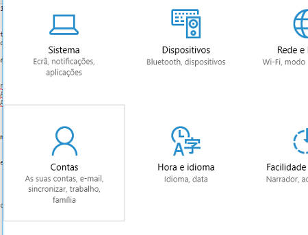 contas do windows