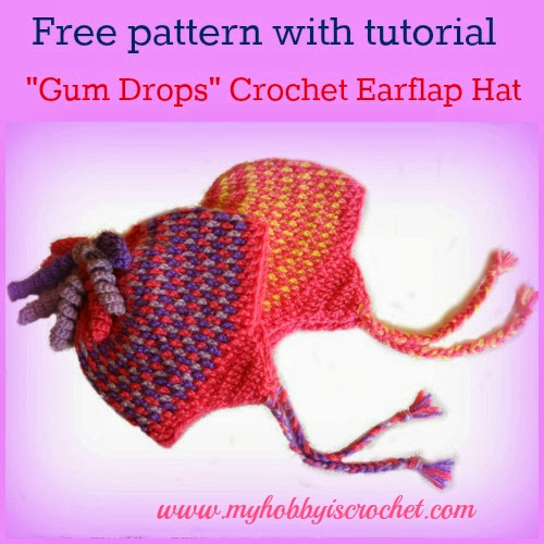 Gumdrops Earflap Hat - Free Crochet Pattern with Tutorial
