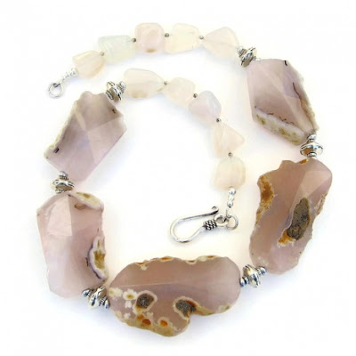 chunky gemstone necklace gift for women.