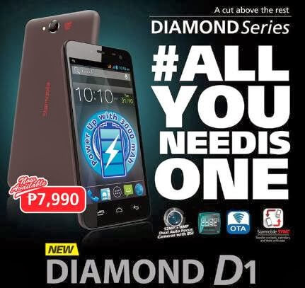 Starmobile Diamond D1, 5-inch Quad Core With 3000mAh Battery For Php7,990