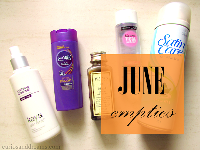 June 2017 Empties, june empties, empties post
