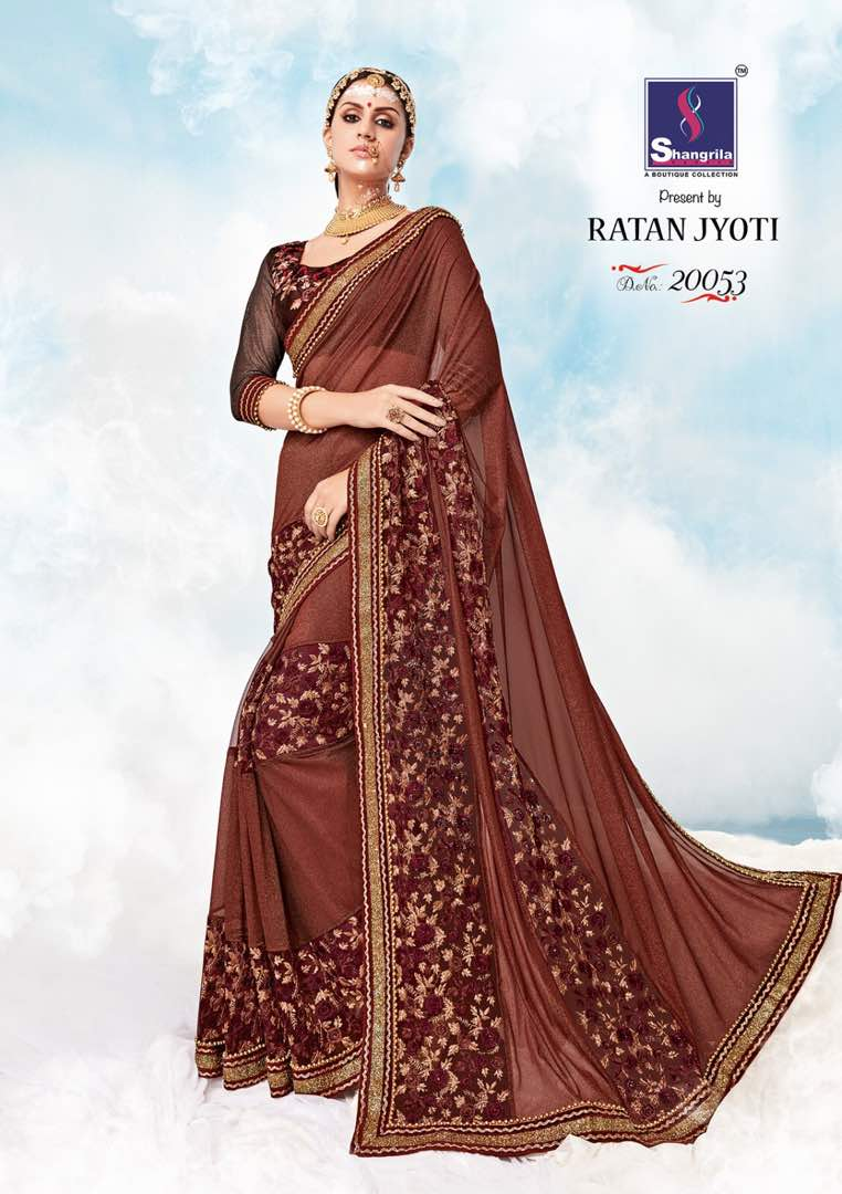 Ratan Jyoti – Beautiful Heavy Embroidery With Graceful Saree