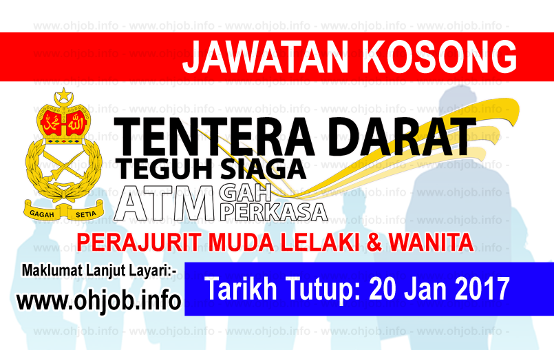 Jawatan Kerja Kosong Tentera Darat (TD) logo www.ohjob.info januari 2017