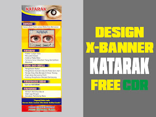 Design X-Banner KATARAK Free CDR Format