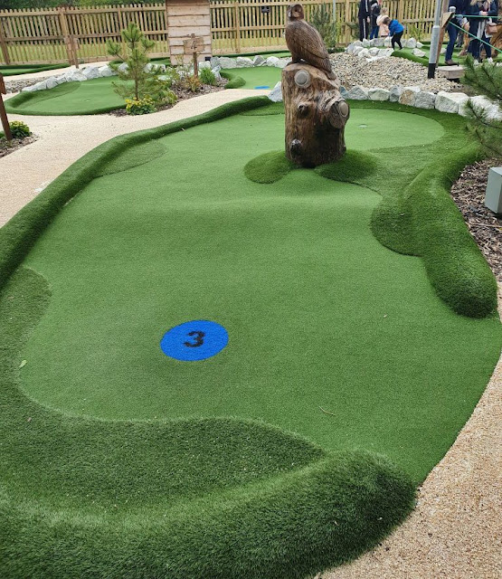 Woodland Adventure Golf at China Fleet Country Club Saltash Plymouth. Photo by Simon Brown, May 2021