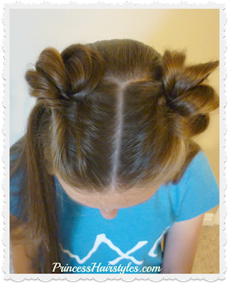 Cute space buns hairstyle using topsy tail. So Easy!
