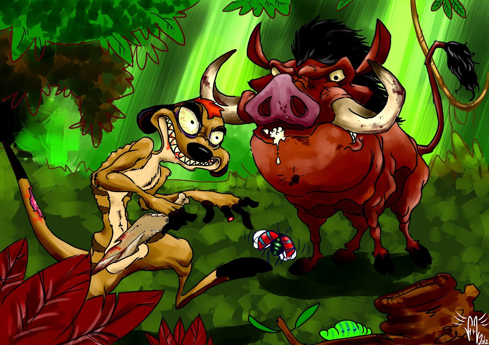 Pumba Cake: Pin Timon Pumbaa And Rafiki