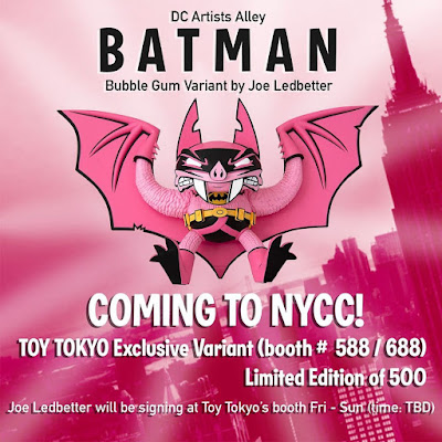 New York Comic Con 2019 Exclusive DC Artists Alley Batman Bubble Gum Variant Vinyl Figure by Joe Ledbetter x Toy Tokyo x DC Collectibles