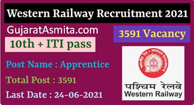 RRC Western Railway Apprentice Recruitment 2021