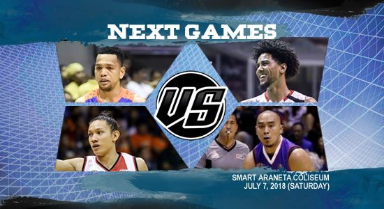 List of PBA Games: July 7 at Smart Araneta Coliseum 2018 PBA Commissioner's Cup