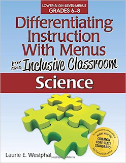 Differentiating Instruction With Menus: 6-8 Inclusive Classroom Science