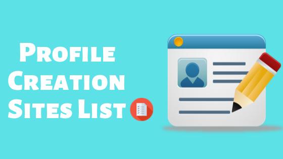 List of 100+ high quality profile backlink sites