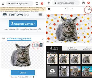 Menghapus Background Foto di Android dengan Web Online
