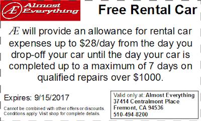 Coupon Free Rental Car August 2017