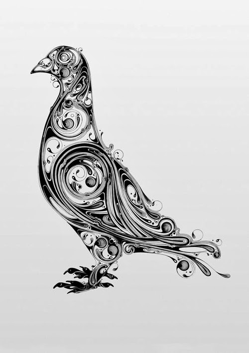 05-Pigeon-Si-Scott-Inked-Animals-Drawings-Resonate-www-designstack-co