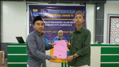 Rifaldy Happy Resmi Nahkodai PMII Kota Gorontalo Masa Khidmat 2021-2022