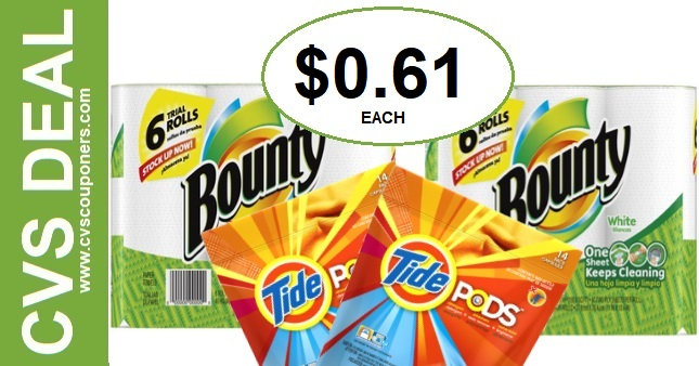 CVS Bounty P&G Deal $0.61 12-29-1-4