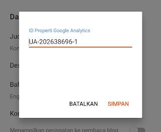 Memasukan ID analytics ke blog, Cara mendaftar google analytics