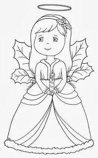 desenhos para desenhar Anjo natalino