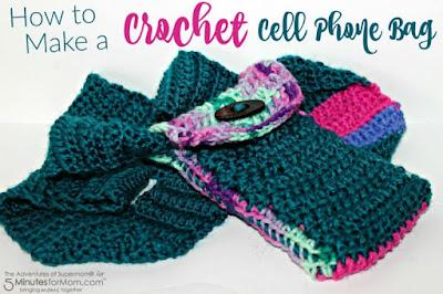 crochet cell phone bag