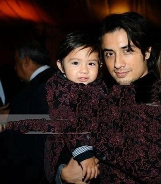 Ali Zafar with his son Azaan