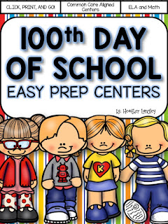 https://www.teacherspayteachers.com/Product/100th-Day-of-School-Easy-Prep-Centers-2310211