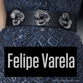 Queen Letizia style Felipe Varela Belt Minimal Opulence SS17