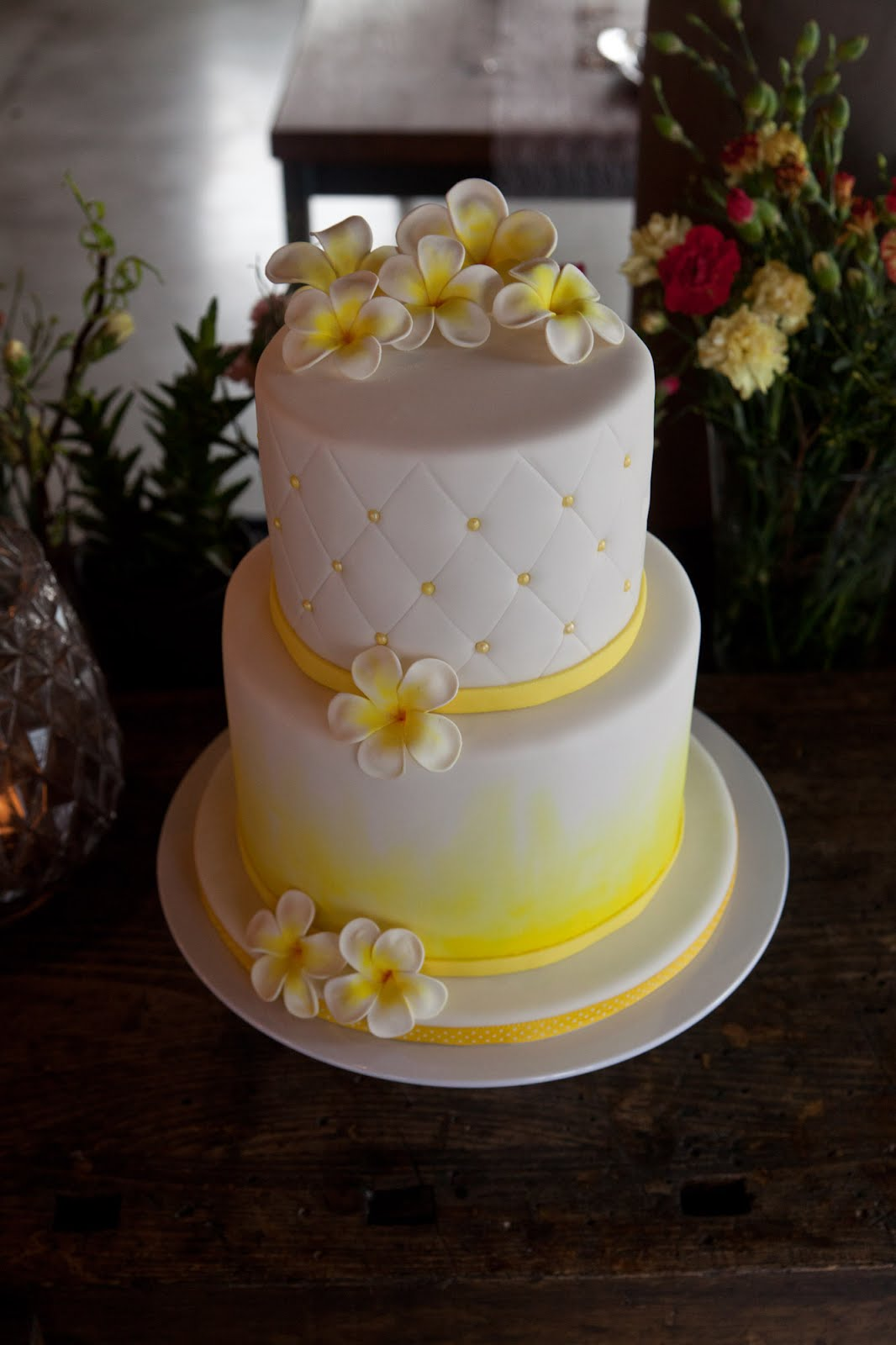 Frangipani Hochzeitstorte