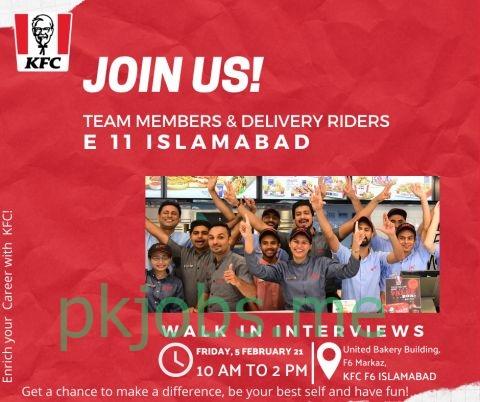 Latest KFC Pakistan Limited Posts 2021