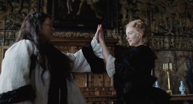 "Olivia Colman and Emma Stone in ""The Favourite"""