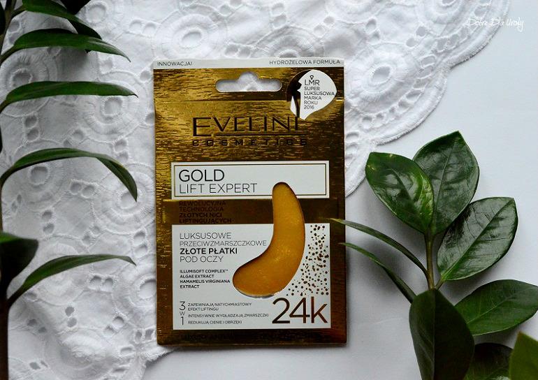 Złote płatki pod oczy Gold Lift Expert Eveline Cosmetics recenzja