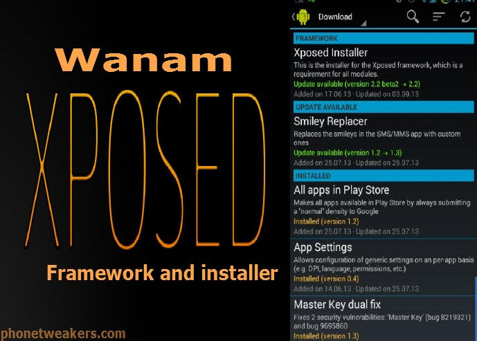 About Wanam xposed Installer For All Samsung Android Devices