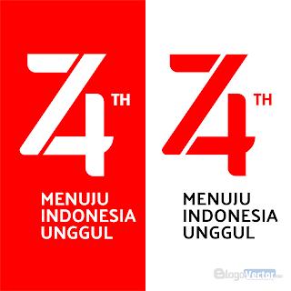 Logo Resmi Hut RI Ke 74 Logo vector (.cdr)