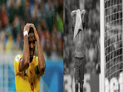 soccer players reacting
