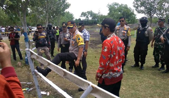 Polisi melakukan rekonstruksi tewasnya anak kecil dalam pacuan kuda