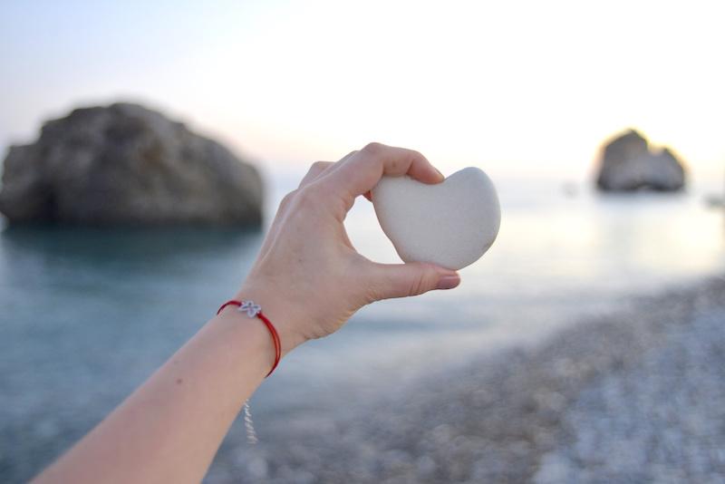 kamień z plaży Afrodyty Cypr