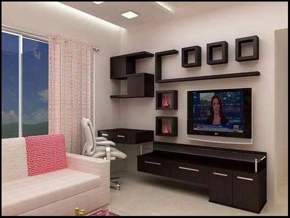 wall tv shelf