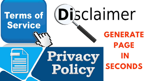 Generate Disclaimer Privacy policy page