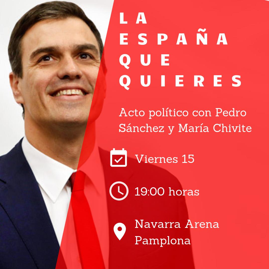 Pedro Sánchez en Pamplona 15-3-19