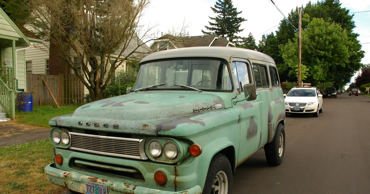 Old Parked Cars 1964 Dodge D100 Town Wagon Carryall