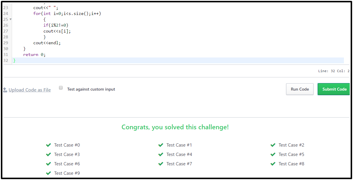 Playing With Characters Hackerrank Solution In C