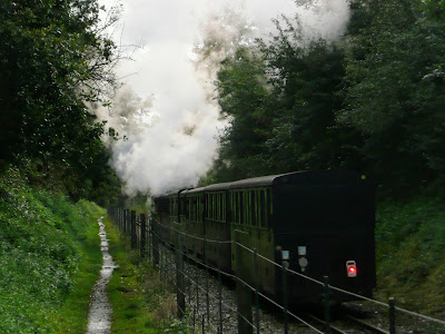 A train heads toward Coltishall