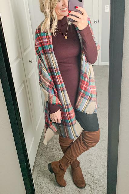 Wear a blanket scarf as a wrap