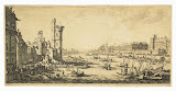 View of the Louvre. First Sheet by Jacques Callot - Cityscape Art Prints from Hermitage Museum