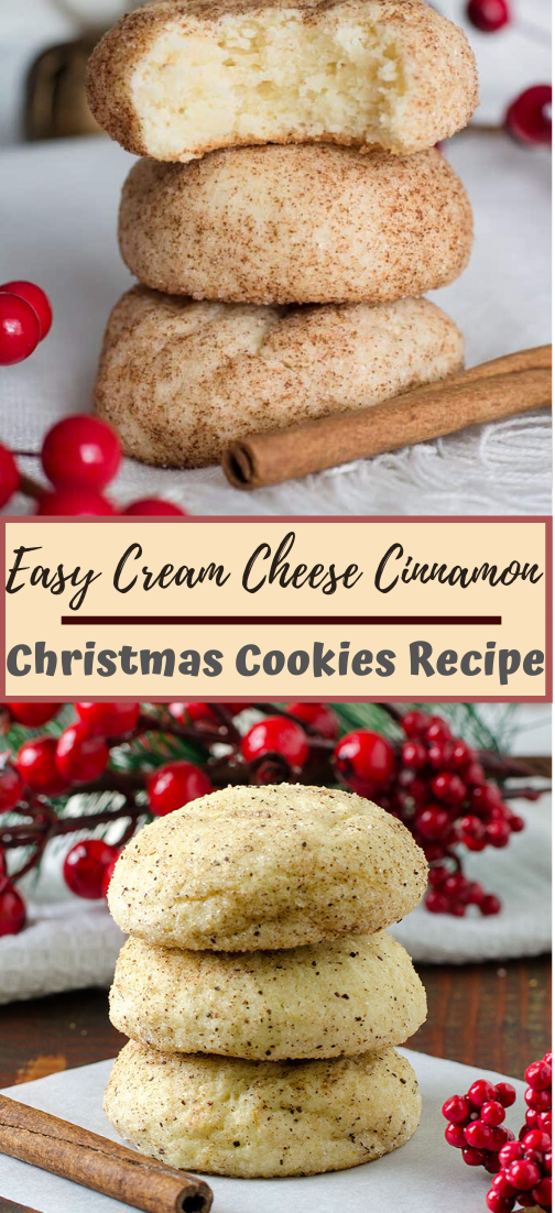 Easy Cream Cheese Cinnamon Christmas Cookies Recipe #desserts #cakerecipe #chocolate #fingerfood #easy