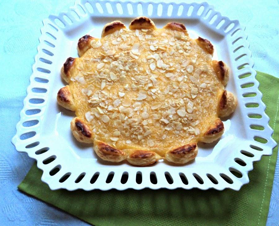 Tarta Margarita de Hojaldre a la Naranja Olor a hierbabuena