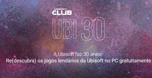A Ubisoft continua a celebração de seus 30 anos e já permite baixar gratuitamente o game deste mês.