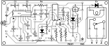 Parts Placement Layout Infrared Switch (Receiver Module)