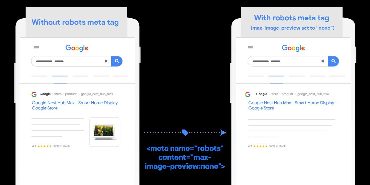Auch die maximale Bildgröße kann für die Google-Suche eingestellt werden